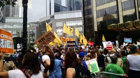 Protestors at the People's Climate March.