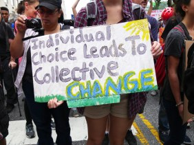 Over 300,000 people attended the People's Climate March.
