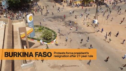 Protesters Flee Bullets in Burkina Faso