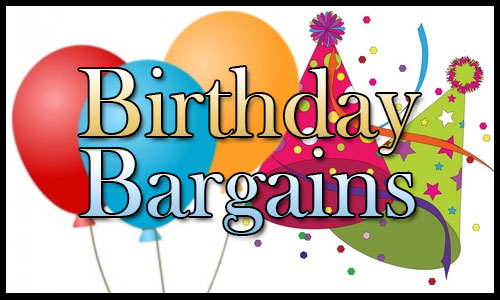 Birthday Bargains!  50-100% OFF eBooks