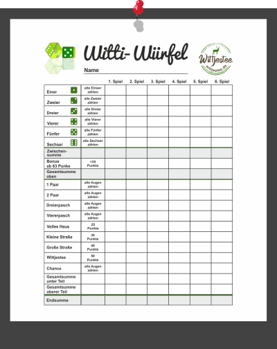 Witti-Würfel Würfelblock