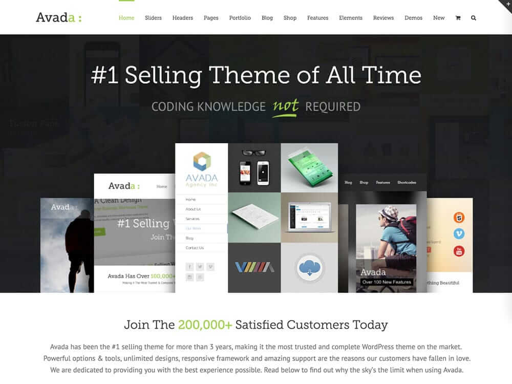 Avada - One of the Best Wordpress Themes