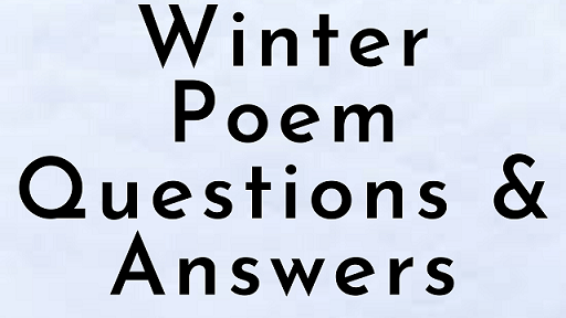 Winter Poem Questions & Answers
