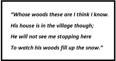 Stopping by Woods on a Snowy Evening Questions & Answers Of Stanza 1