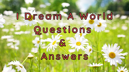 I Dream A World Questions & Answers
