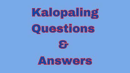 Kalopaling Questions & Answers