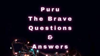 Puru The Brave Questions & Answers