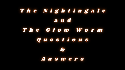 The Nightingale and The Glow Worm Questions & Answers