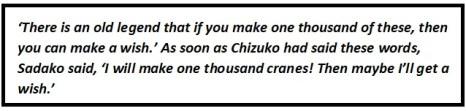 The Story of Sadako Sasaki Questions & Answers