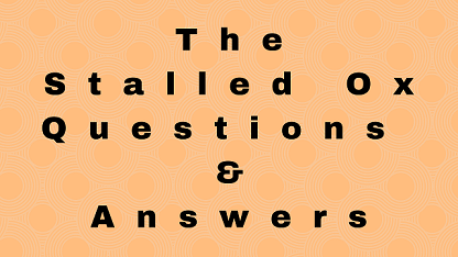 The Stalled Ox Questions & Answers
