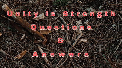 Unity is Strength Questions & Answers