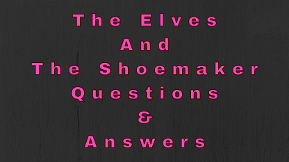 The Elves and The Shoemaker Questions & Answers