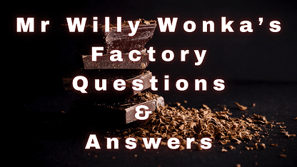Mr Willy Wonka's Factory Questions & Answers