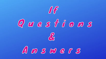 If Questions & Answers
