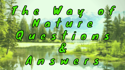 The Way of Nature Questions & Answers