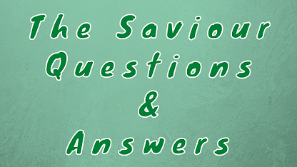 The Saviour Questions & Answers