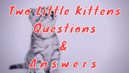 Two Little Kittens Questions & Answers