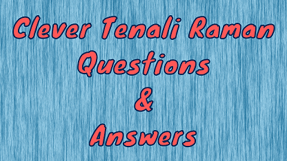 Clever Tenali Raman Questions & Answers