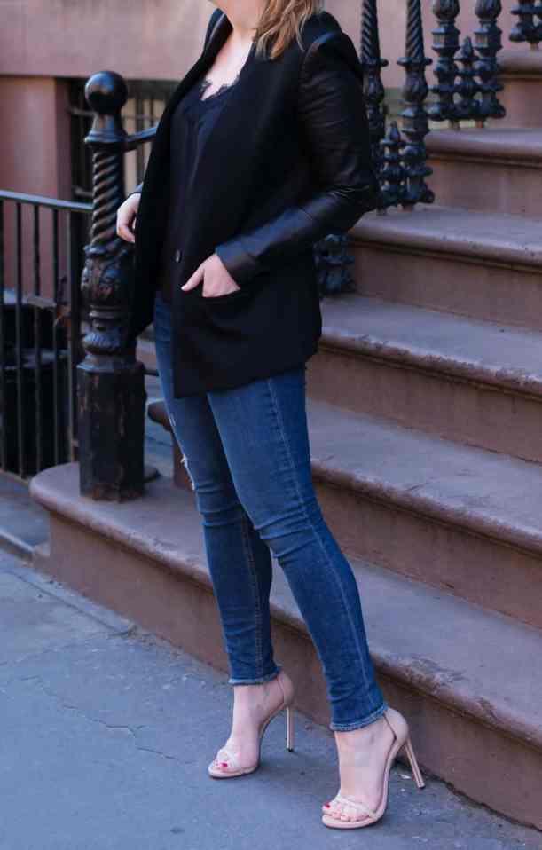Raw Hem Jeans + Strappy Sandals