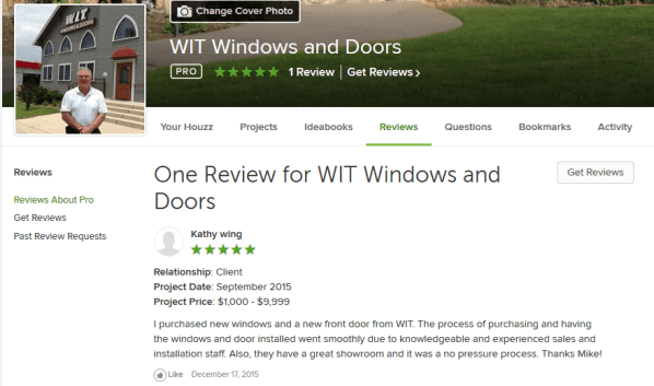 Houzz Review WIT Windows and Doors