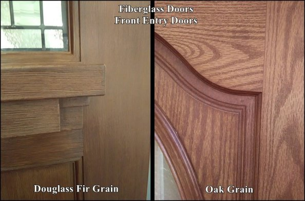 Fiberglass Doors that look like wood
