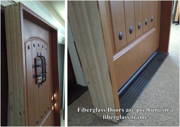 fiberglass doors that look like wood with a speakeasy