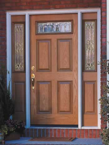 Fiberglass door finish