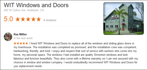 WIT Windows and Doors - Review
