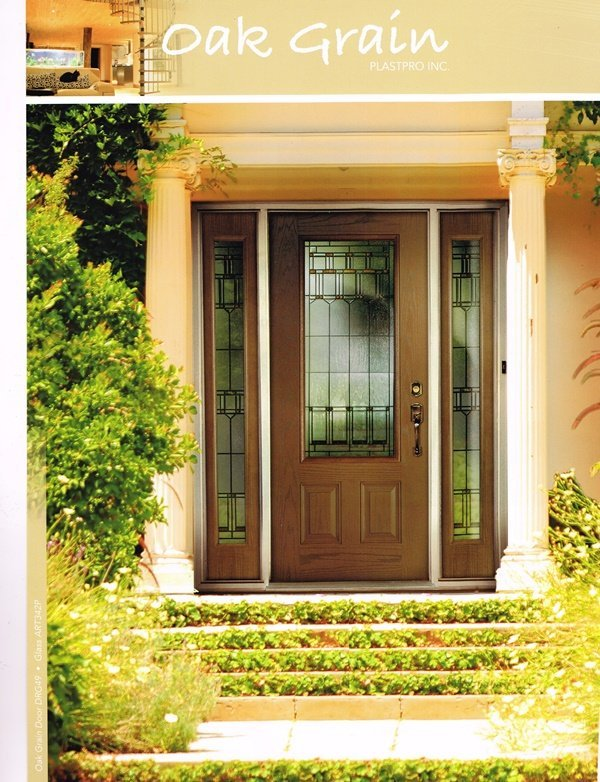 oak grain fiberglass doors