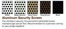 titan perforated screen colors