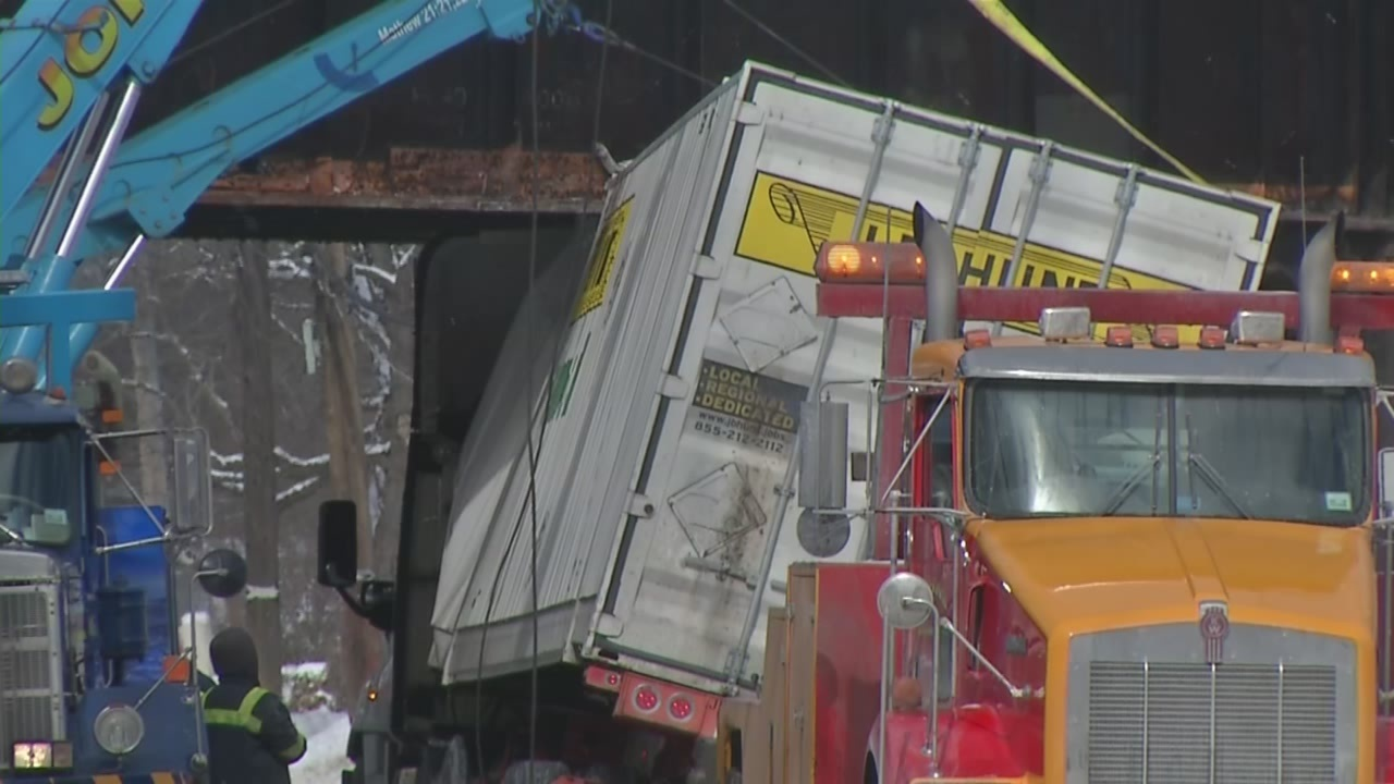 City counts 57 big rigs have slammed into CSX's low bridge in 18 years