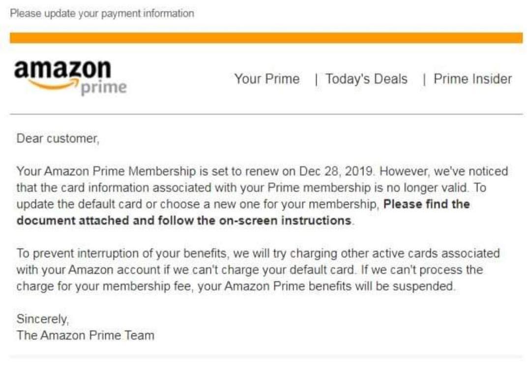 Amazon Email Virus