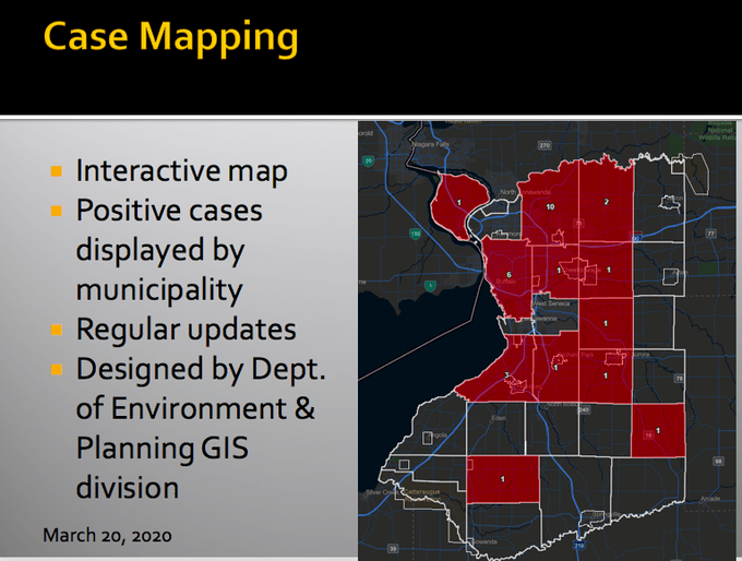 erie county now has interactive map displaying positive