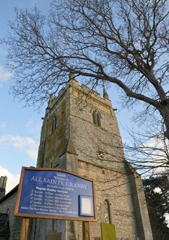 All Saints, Granby - tower from the west