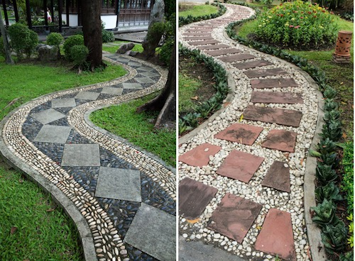 Curvy edge Patio