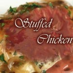 Stuffed Chicken Breast with sweet & sour prunes sauce