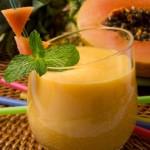 papaya-and-banana-smoothie