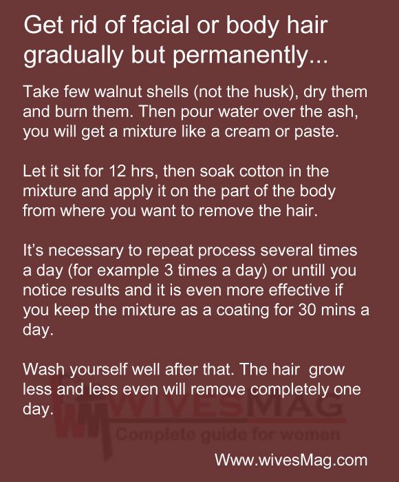 remove body or facial hair