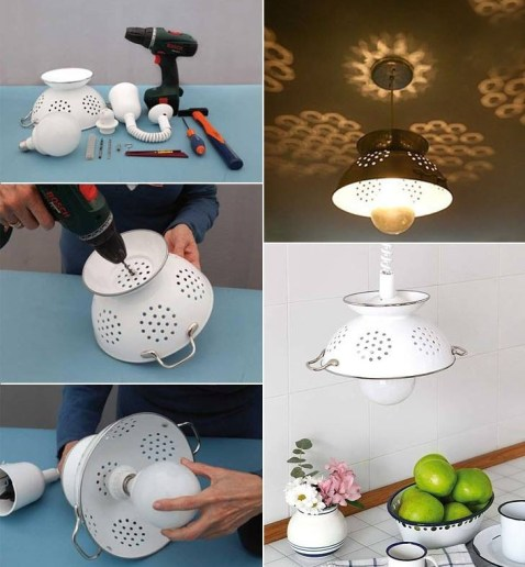 Create lamps using strainer