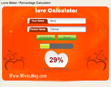 Easycalculation Love Percentage Calculator