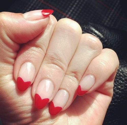 French Heart Nail Design