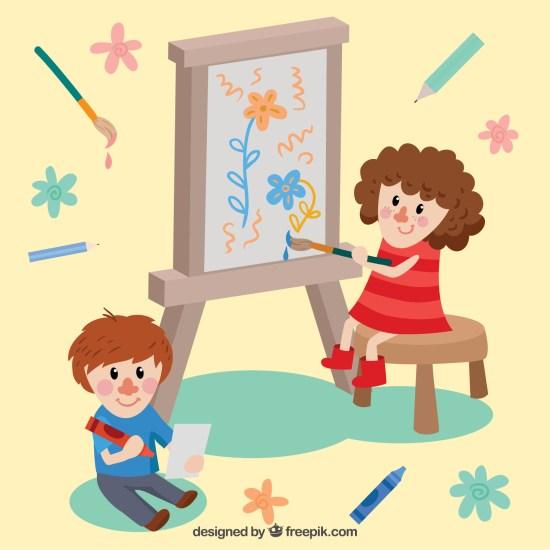 pintar y dibujar niños- wiwi