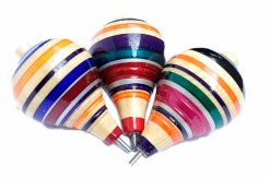 Trompo de madera popular artesanal 12 cm - Wiwi mayoreo