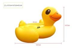 Pato Mega Montable acuático inflable - Wiwi Mayoreo
