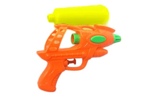 Pistola lanza agua con tanque - Wiwi juguetes mayoreo