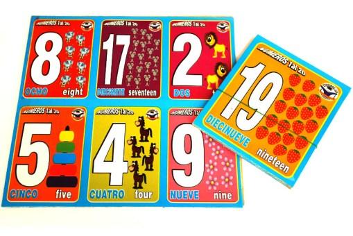 Loterías Didácticas Números del 1 al 20 con Cartas Jumbo