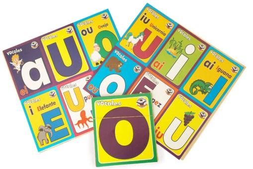 Loterías Didácticas Las vocales con Cartas Jumbo
