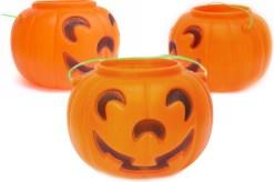 Calabaza Feliz grande 21 cm diámetro-Halloween de mayoreo