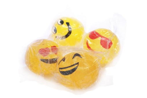 Bolas pegajosas de emoticons 12 pzas - fiestas de mayoreo