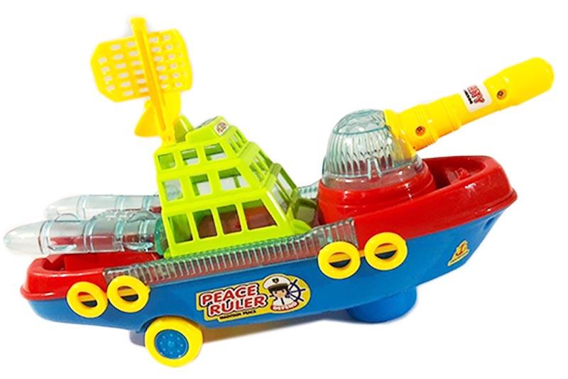 Battleship Barco de luz y sonido- juguetes didácticos